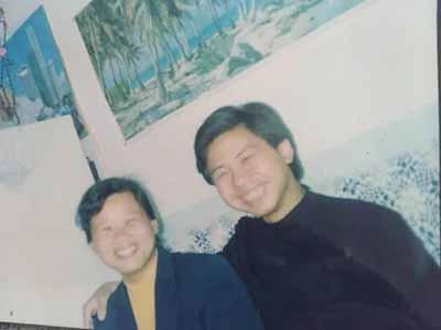 李尚平與姐姐在一起